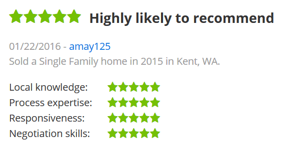 Five Star Review Zillow AMay